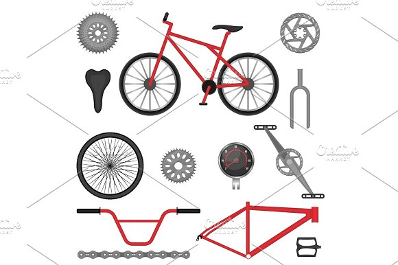 Parts Of BMX Bike Off-road Sport Bicycle Used For Racing