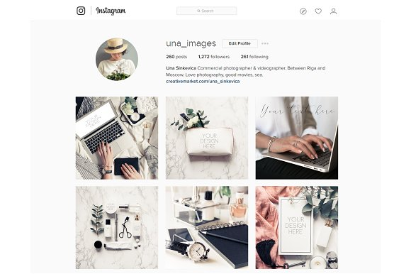 Beauty blogger mockup bundle Vol. 2 in Instagram Templates - product preview 4