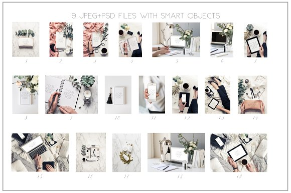 Beauty blogger mockup bundle Vol. 2 in Instagram Templates - product preview 5