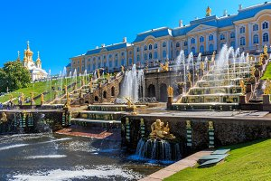 Palace and Grand Cascade of fountains