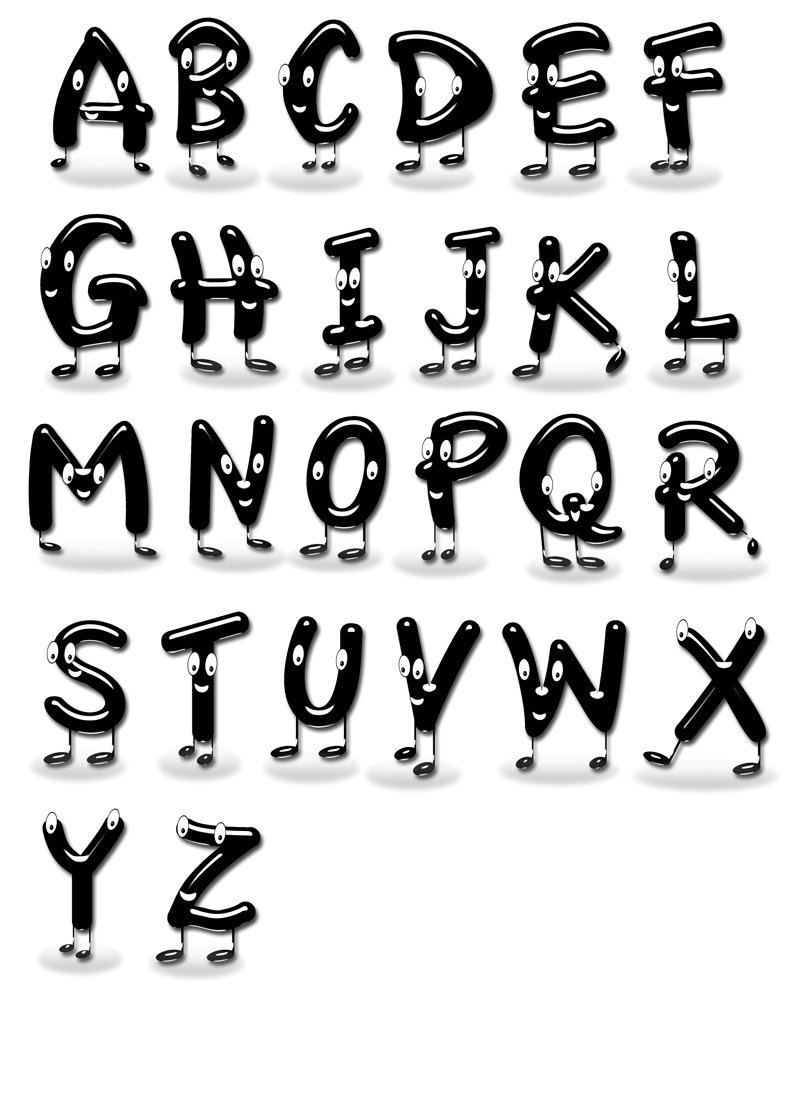 Funny letters. ~ Illustrations ~ Creative Market