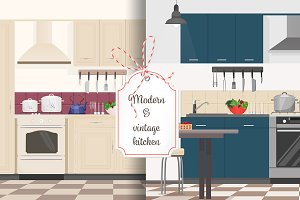 Modern & classic vintage kitchens