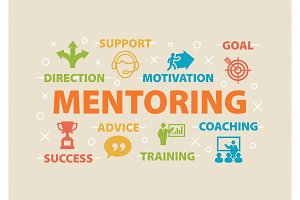 MENTORING Concept with icons