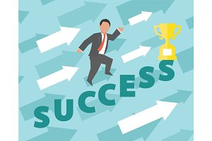 Success. Concept business illustration.
