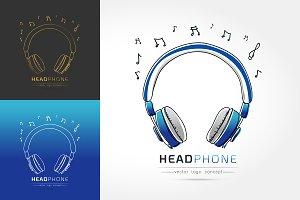 stylized image of Headphone