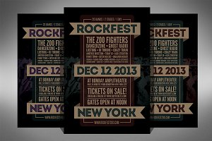 Rock Festival Music Flyer - 2 Sizes