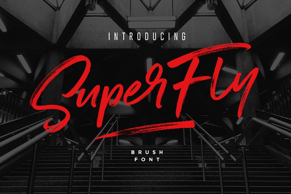 SuperFly Brush Font
