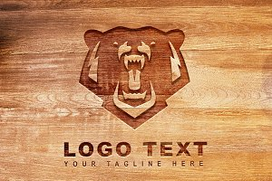 Bear Rustic Logo & Mock-Up - Vector