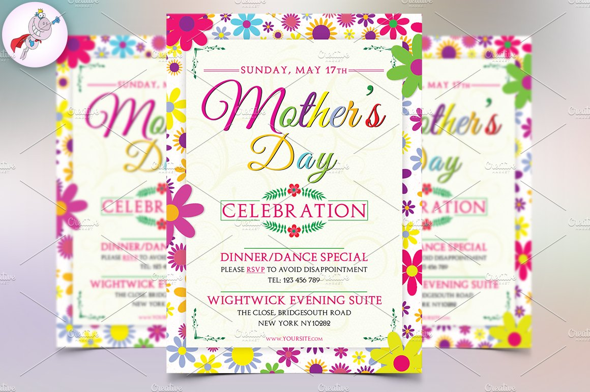 mother s day flyer template v1 flyer templates creative market