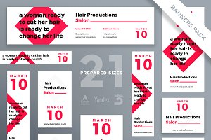 Banners Pack | Hair Salon
