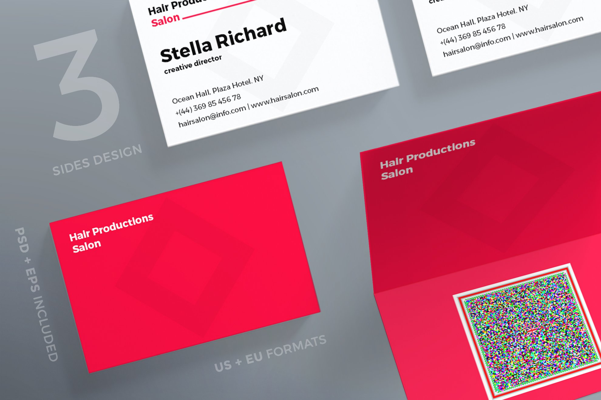 Business Cards | Hair Salon ~ Business Card Templates ~ Creative Market