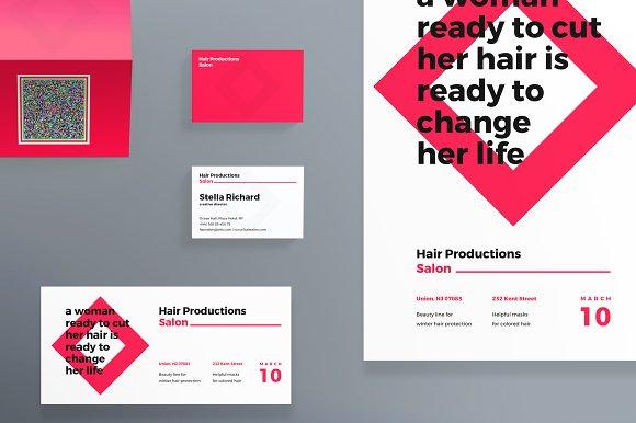 print pack hair salon templates creative market