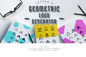 Geometric Logo Generator - Letter A