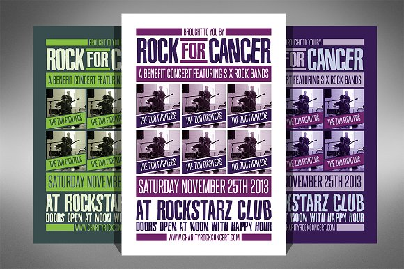 Charity Event Flyer 2 Sizes Flyer Templates on Creative Market – Event Flyer