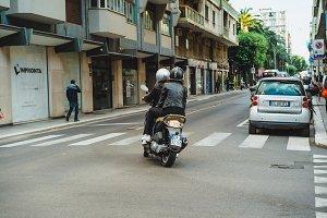 Couple in love on motobike