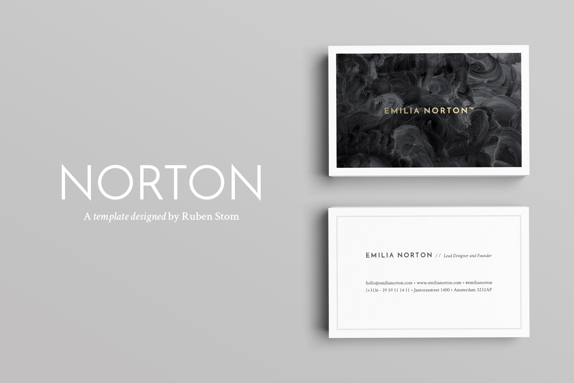 Aaron business cards business card templates creative market norton business cards magicingreecefo Images