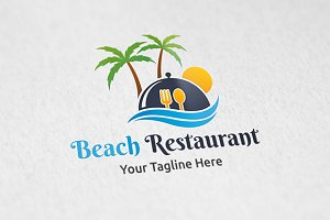 Beach Restaurant - Logo Template