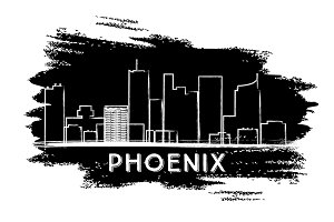 Phoenix Skyline Silhouette.