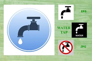 Water tap vector icons