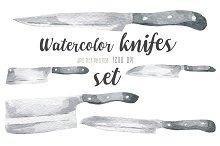 Watercolor knifes set