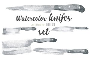 Watercolor knifes set