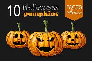 10 Halloween pumpkins