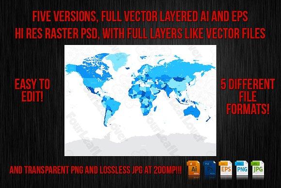 Vector High Detail World Map