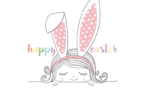 Happy Easter / Cute Girl
