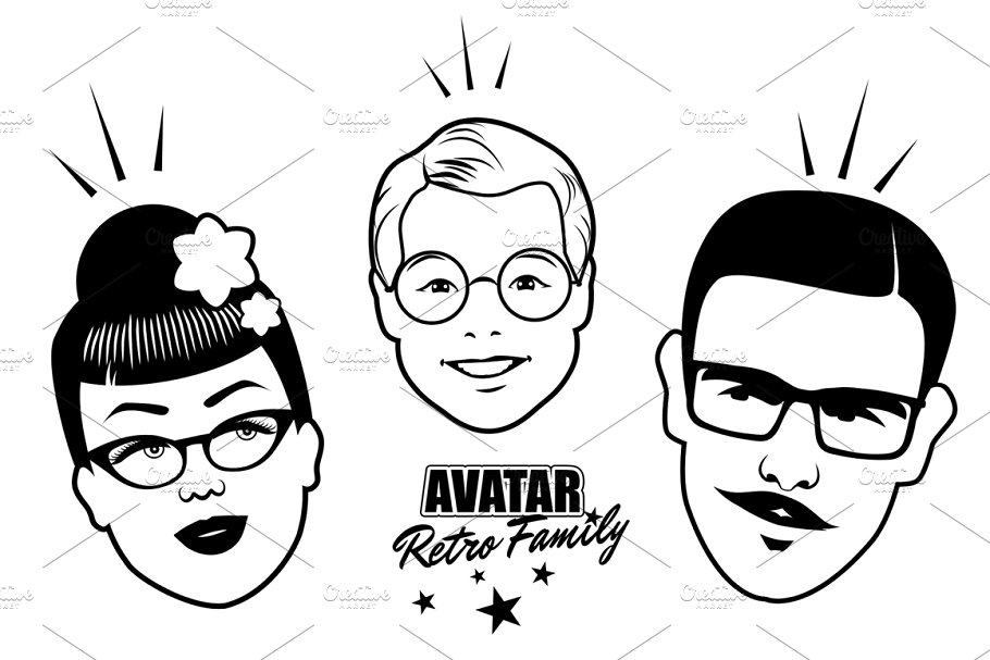 Avatar Retro Family V