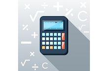 Calculator Flat Concept Icon Vector