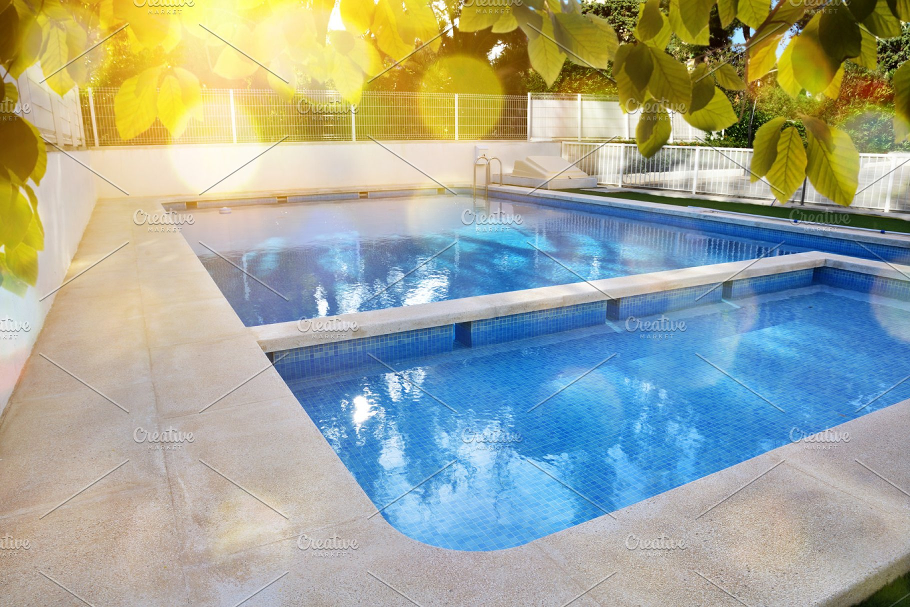 Garden With Swimming Pool swimming pool in garden overview