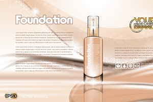 Vector brown foundation mockup