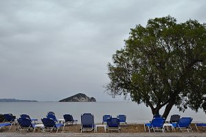 Sunbeds Keri Beach