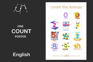 ♥ vector English Count poster