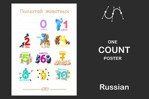 ♥ vector Russian Count poster