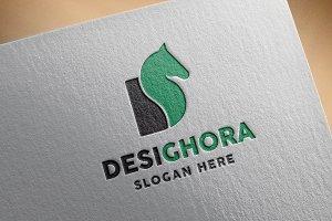 D Letter Horse Logo