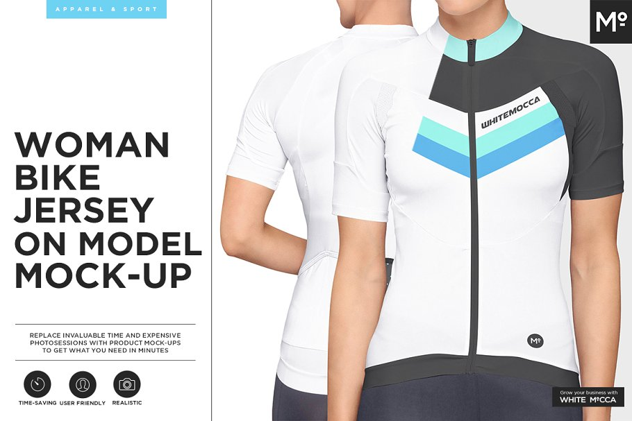 68e862b1c0b Women Bike Jersey on Model Mock-up ~ Product Mockups ~ Creative Market
