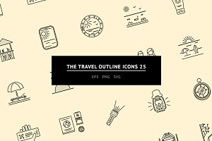 The Travel Outline Icons 25