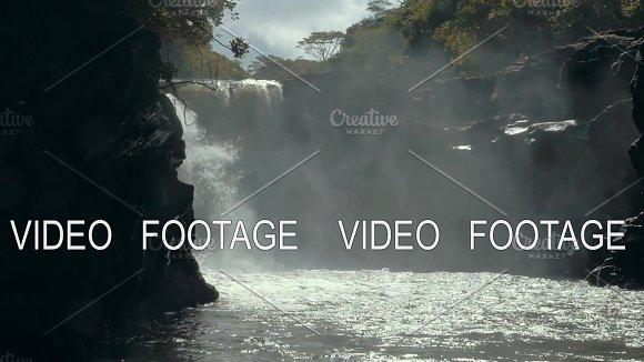 Nature Scene With Waterfall