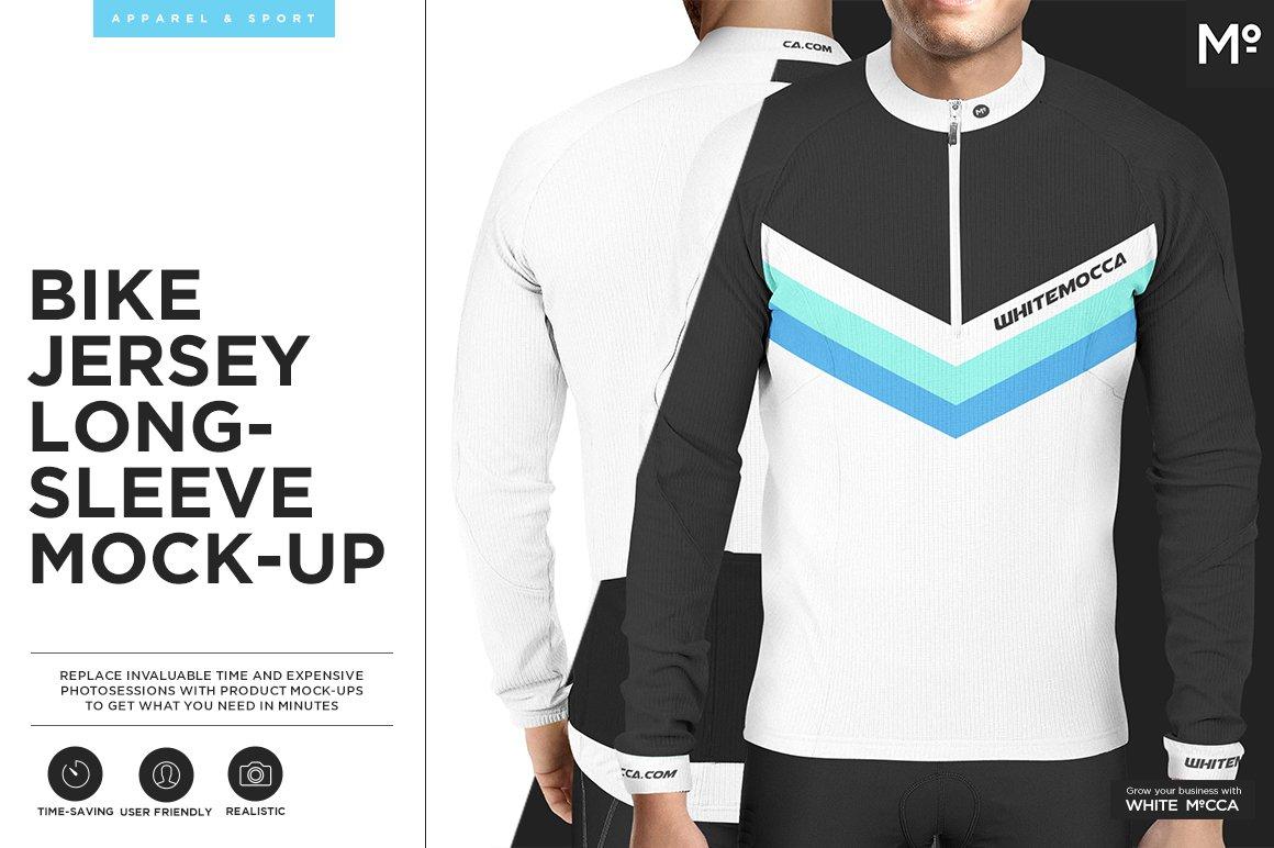 Bike Jersey Longsleeve Mock-up ~ Product Mockups ~ Creative Market d122e3a42