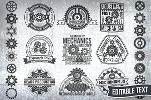 Gears logo set