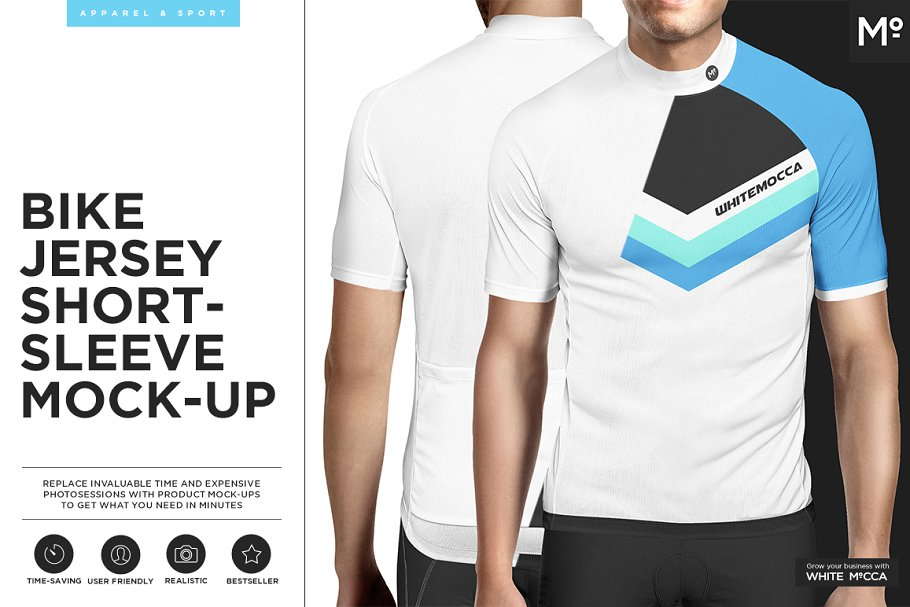 e43ce306dd2 Bike Jersey Shortsleeve Mock-up ~ Product Mockups ~ Creative Market