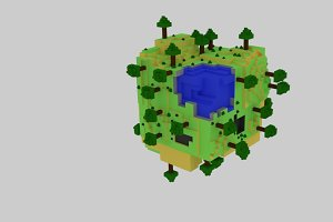 World Cube Lowpoly