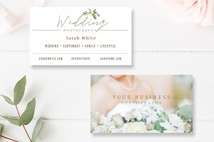Wedding photographer business card business card templates wedding photographer business card business card templates creative market fbccfo Choice Image