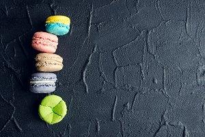 Colorful almond cookies macaroon