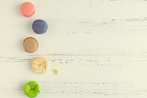 Colorful almond cookies macaroon