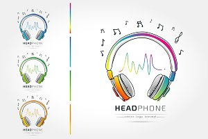 The stylized Logo of Headphone