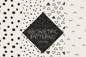 Set of 4 Geometric Patterns