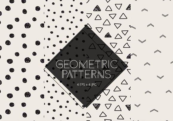 Set Of 4 Geometric Patterns