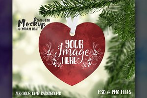 Heart Shaped Ornament Mockup
